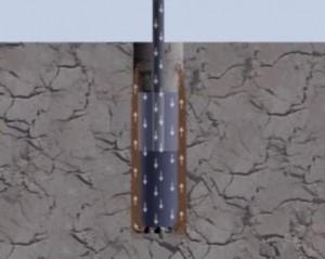 קידוח בסלע (מתוך הסרטון)